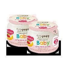 상하목장 유기농 베이비 요구르트 딸기바나나 2단계