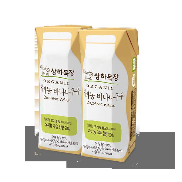상하목장 유기농 바나나 우유 125mL